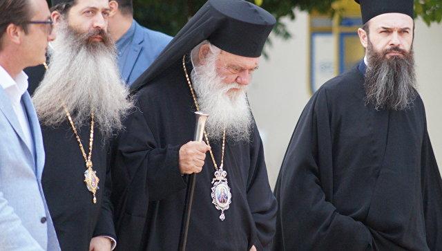 Архиепископ Афинский и всей Греции Иероним на Межпарламентской ассамблее православия в Афинах. 25 июня 2018