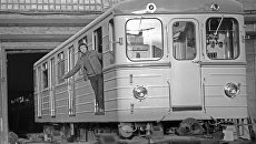 Метровагон, выпущенный для пражского метрополитена Мытищинским машиностроительным заводом (сейчас акционерное общество Метровагонмаш).