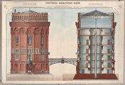 Крестовские водонапорные башни в разрезе