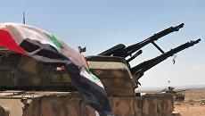 Сирийская армия на границе с Иорданией а провинции Дераа. Архивное фото