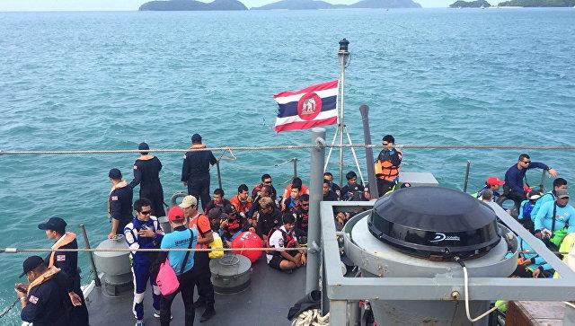 Поисково-спасательная операция в море у острова Пхукет в Таиланде. Архивное фото