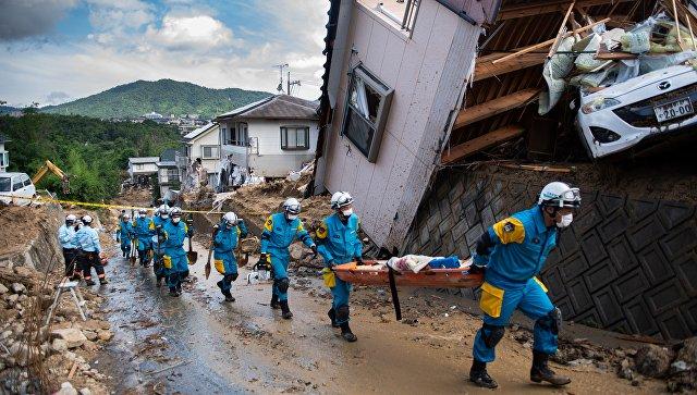 В Японии число жертв наводнения возросло до 225 человек