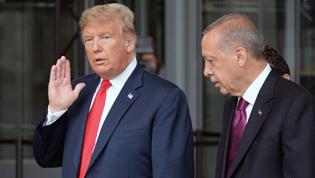 Дональд Трамп и президент Турции Реджеп Тайип Эрдоган. Архивное фото