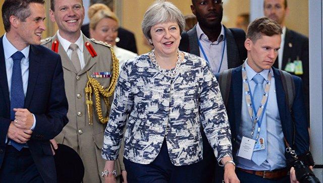 Премьер-министр Великобритании Тереза Мэй на саммите стран-участниц НАТО в Брюсселе. 12 июля 2018