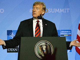 Президент США Дональд Трамп на саммите НАТО в Брюсселе. Архивное фото