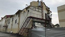 Сгоревший ТЦ Зимняя вишня в Кемерово.  Архивное фото