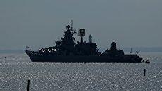 Ракетный крейсер Маршал Устинов. Архивное фото