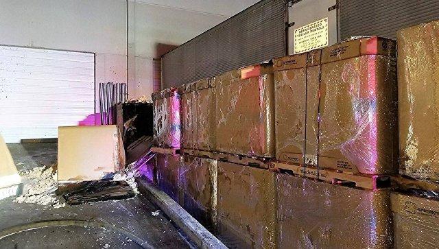 Последствия возгорания на заводе кукурузных чипсов в  городе Остин, штат Техас