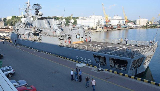 Корабли военно-морской группы НАТО в порту Одессы