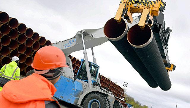 Трубы для строительства газопровода Северный поток 2. Архивное фото