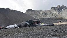 Крушение самолета Junkers Ju-52 авиакомпании JU-AIR вблизи горного курорта Флимс в Швейцарии. 5 августа 2018