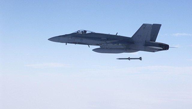 Запуск ракеты AIM-120 AMRAAM. Архивное фото