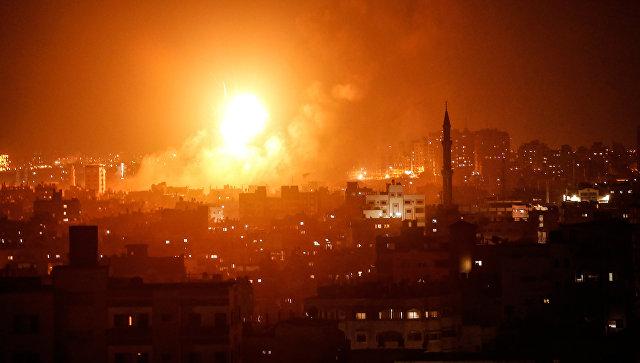 Авиаудар израильских ВВС по Газе. Архивное фото