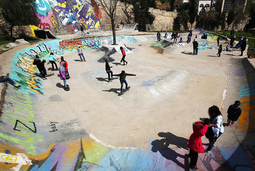 Скейт-парк для беженцев в Аммане