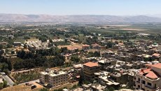 Долина Бекаа в Ливане, где размещены лагеря для сирийских беженцев. 11 августа 2018
