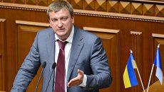 Министр юстиции Украины Павел Петренко выступает на заседании Верховной Рады Украины