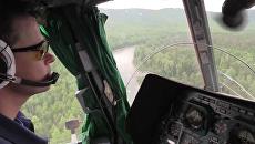 Вертолёт МЧС России вылетел в горы Алтая для эвакуации туристов. 14 августа 2018
