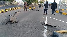 Последствия землетрясения на индонезийском острове Ломбок. 20 августа 2018