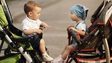 Дети в колясках