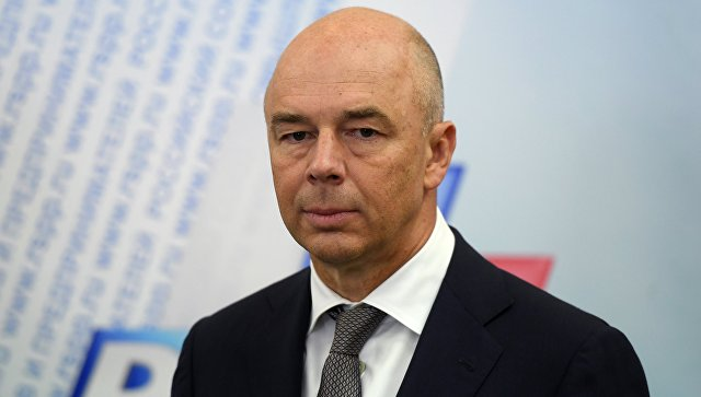 Министр финансов РФ Антон Силуанов во время пресс-подхода по итогам встречи с представителями российского бизнеса. 24 августа 2018