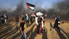 Cтолкновения палестинцев с израильской армией в секторе Газа. Архивное фото