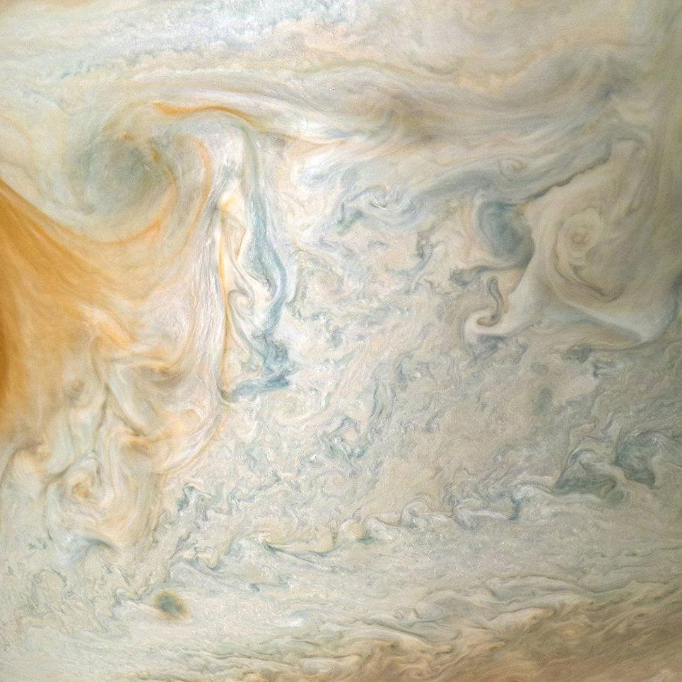 Восточный край большого Красного пятна Юпитера