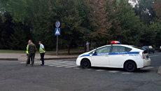 Полиция возле места взрыва в Донецке. 31 августа 2018