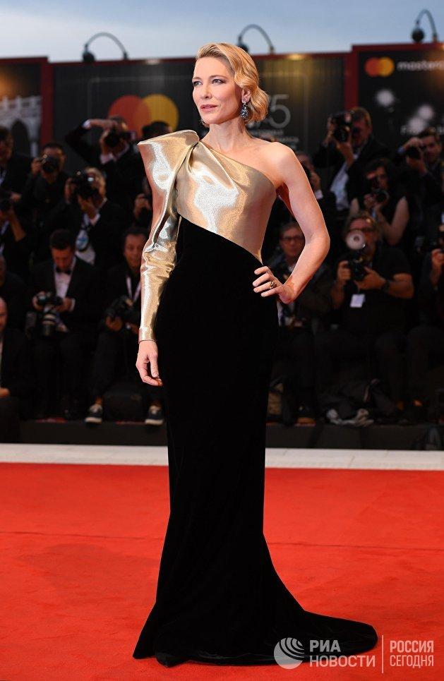 Актриса Кейт Бланшетт на премьере фильма Луки Гуаданьино Суспирия (Suspiria) в рамках 75-го Венецианского международного кинофестиваля