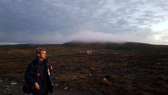 Журналист Александр Егорцев и горы Кольского полуострова
