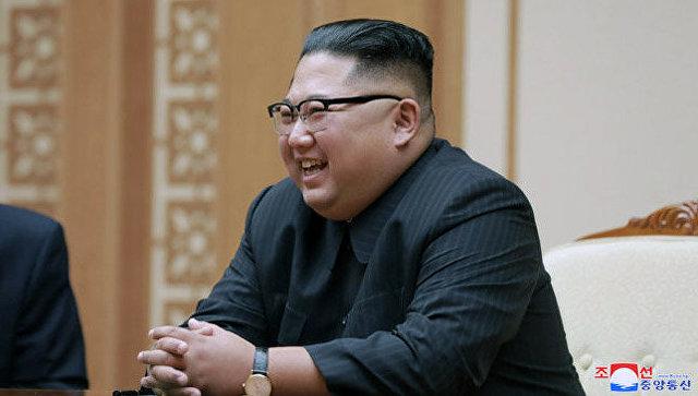 Ким Чен Ын во время встречи с Валентиной Матвиенко в Пьхеньяне. 9 сентября 2018