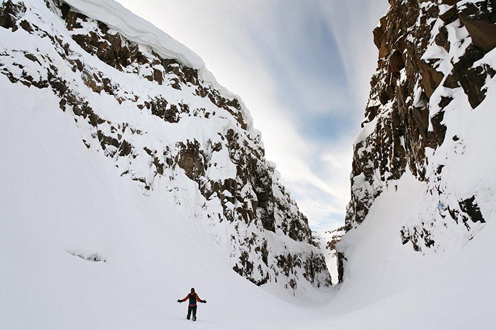 Каньон в верховьях реки Хикикаль. Зима