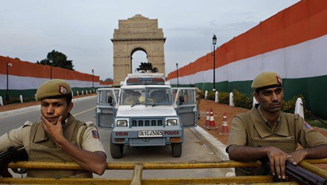 Сотрудники полиции в канун Дня независимости в Нью-Дели, Индия. Архивное фото