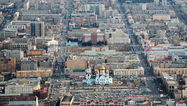 Вид города Читы с воздуха