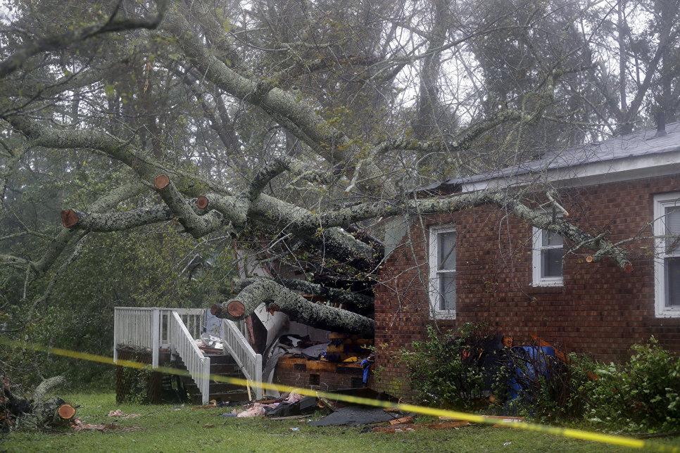 Последствия урагана Флоренс в городе Уилмингтон штата Северная Каролина. 14 сентября 2018