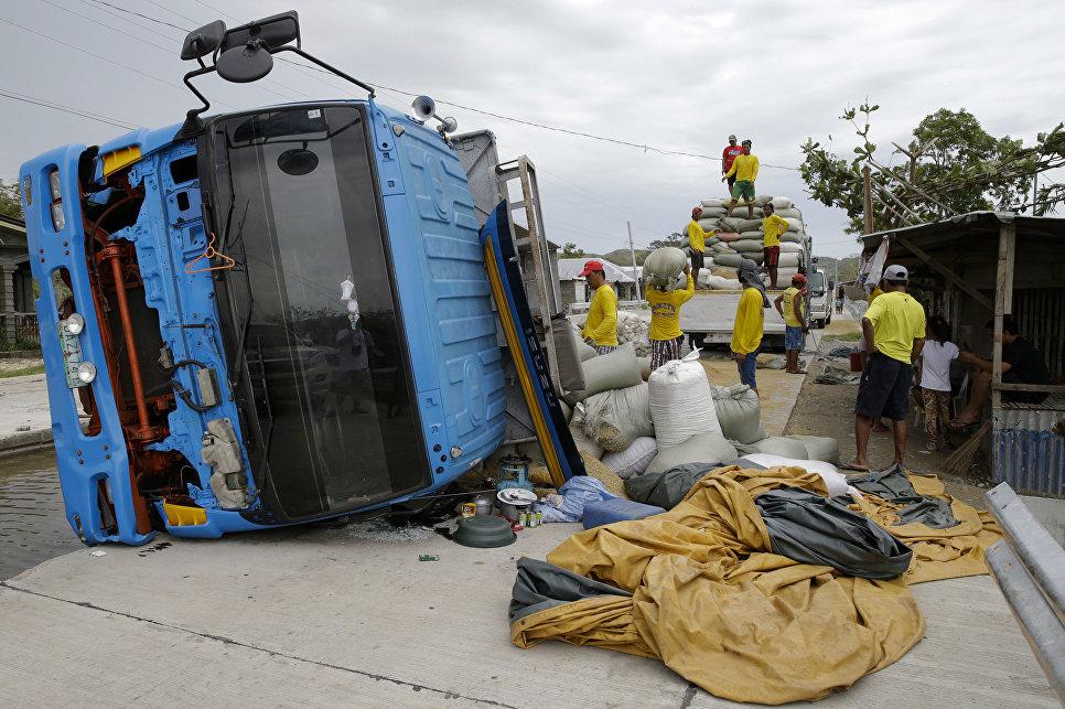 Последствия тайфуна Мангхут на Филиппинах. 16 сентября 2018 года