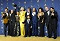 Актерский состав Игры престолов с наградой Эмми за Лучший драматический сериал в Лос-Анджелесе, Калифорния. 17 сентября 2018 года