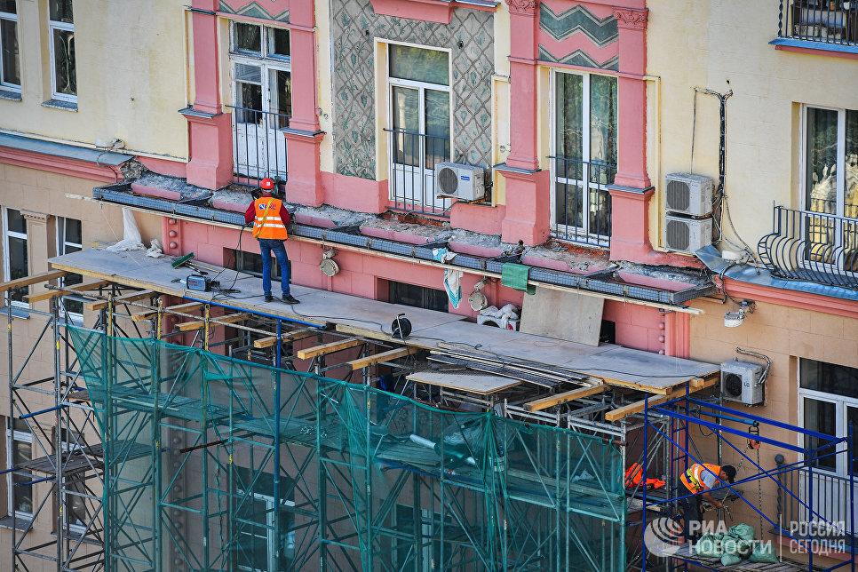 Восстановление балконов на Ленинском, 37