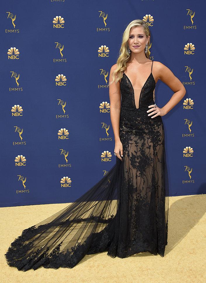 Актриса Кристин Лихи прибывает на 70-ю церемонию вручения награды Primetime Emmy Awards в Лос-Анджелесе
