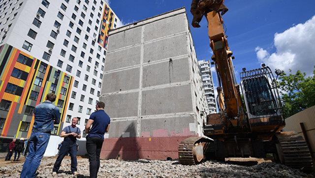 Снос пятиэтажного жилого дома в Москве
