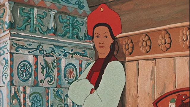 Кадр из мультфильма Аленький цветочек, обработанный нейросетью DeepHD