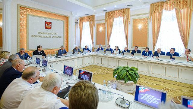 Заседание правительства Воронежской области. Архивное фото