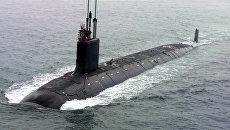 Первая подводная лодка США класса Вирджиния USS Virginia (SSN-774). Архивное фото
