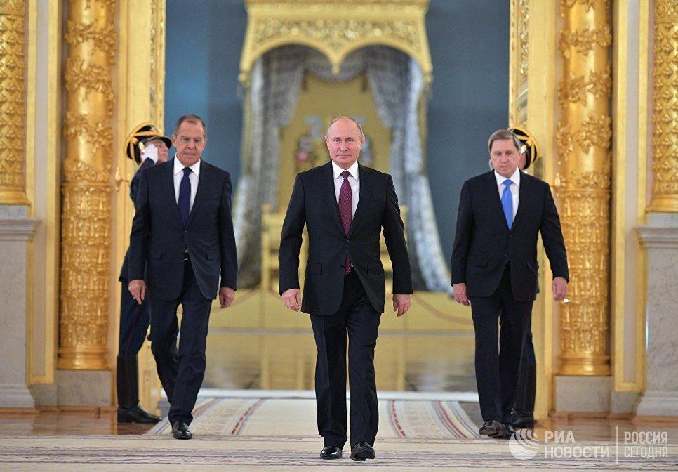 Владимир Путин на церемонии вручения верительных грамот послов иностранных государств. 11 октября 2018
