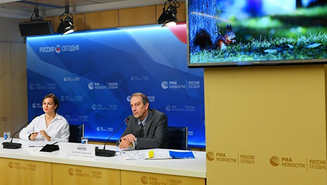Исполняющий обязанности директора Гидрометцентра России Дмитрий Киктев во время пресс-конференции. 12 октября 2018