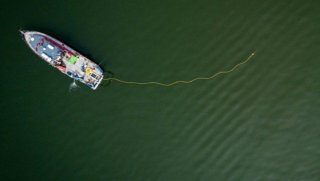 Судно проводит работы по изучению морского дна у берегов Дании. Архивное фото