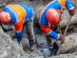 Прорыв труб водопровода в Киеве. Архивное фото