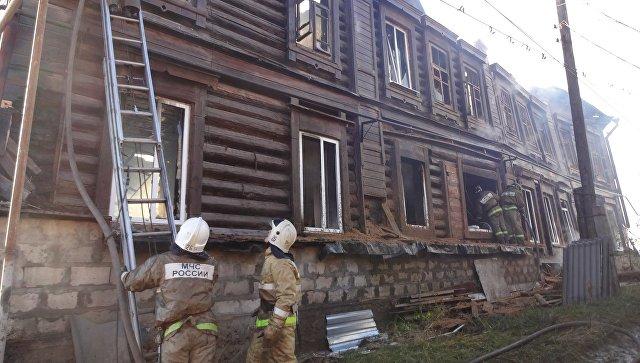 В жилом доме под Саратовом произошел пожар, погиб один человек