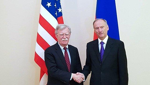 Болтон иПатрушев обсудили соглашения овооружении иборьбу стерроризмом