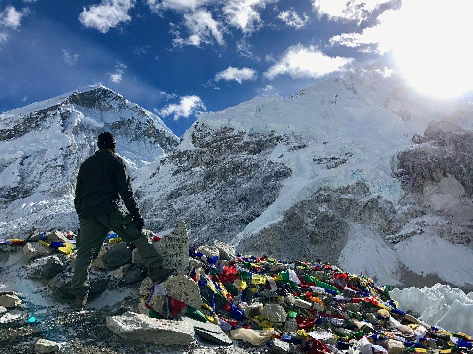 Вид на Эверест.