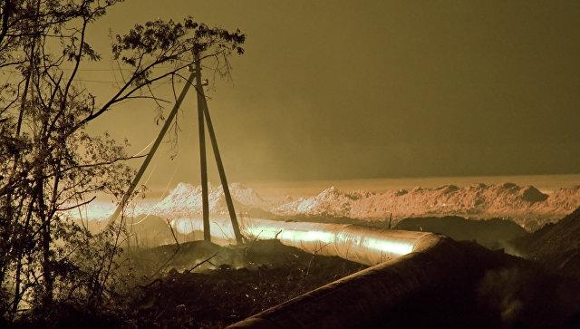 В Рязанской области прорвало магистральный газопровод